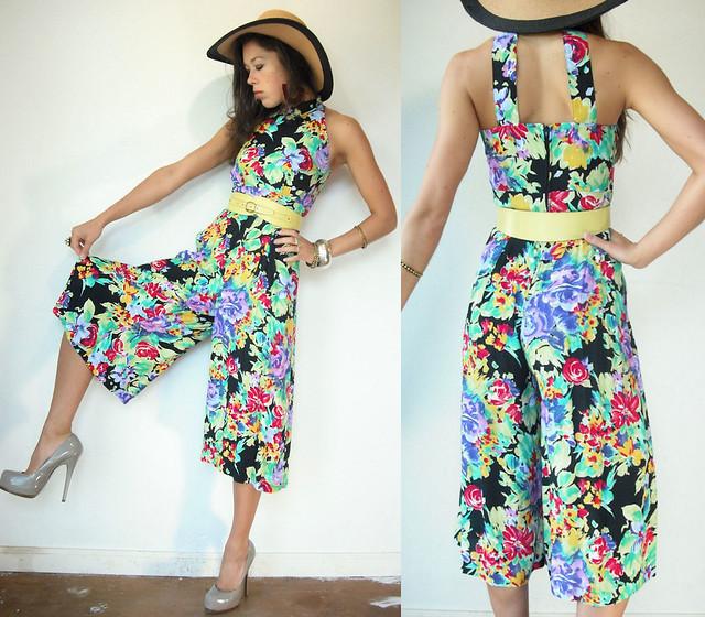 bright floral jumpsuit
