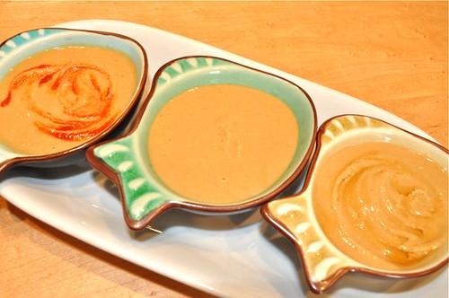 chickpea peanut sauce/ 3 bowls 1