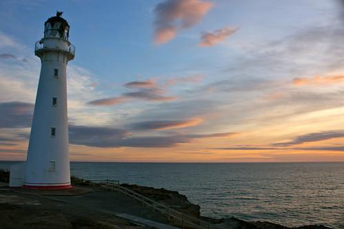 sea sky lighthouse sunrise castlepoint