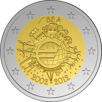 2 Euro Belgicko 2012, 10. výročie zavedenia Eura