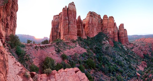 arizona panorama sunrise photography michael photo photos pics pano sedona az pic wilson cathedralrock michaelwilson michaelwilsoncom