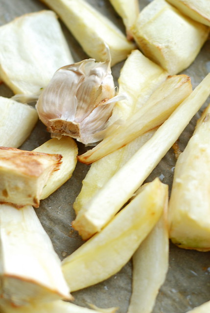 roasted parsnip and garlic