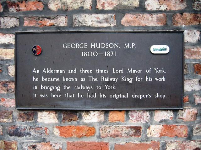 Photo of George Hudson bronze plaque