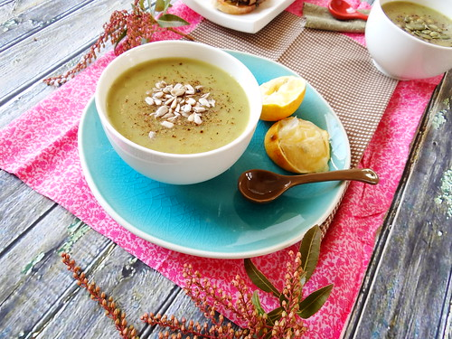 creamy asparagus + red potato soup