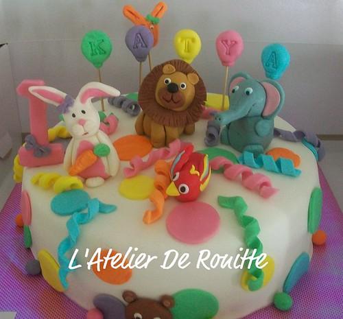 Parti temalı 1 Yaş Doğumgünü Pastası by l'atelier de ronitte