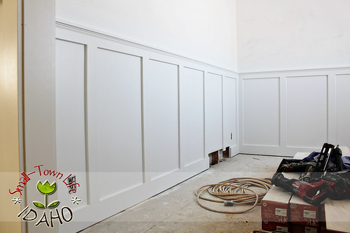 wainscoting before and after with Inexpensive Board Batten Wainscot How To on Giuliana Bill Rancics Remodeled Brownstone In Chicago moreover How To Make Dining Room Decorating Ideas To Get Your Home Looking Great together with Beadboard Ceiling likewise Giuliana Bill Rancics Remodeled Brownstone In Chicago also MASTER BATHROOM Large Wave Tile Shower Penny Tile Wainscot Ikea Cabi s Modern Austin.