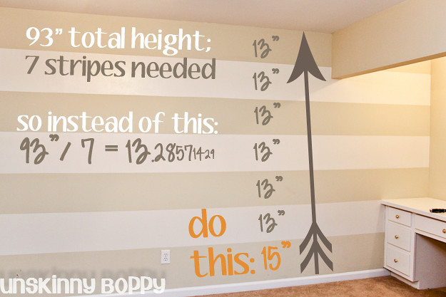 easiest way to paint stripes on the wall