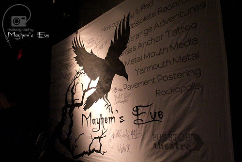 Signed Banner - Mayhem's Eve - March 10th 2012