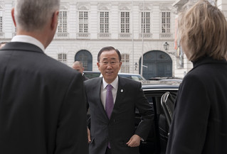 UN Secretary-General visiting Vienna in February 2012