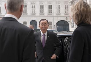 UN Secretary-General visiting Vienna in February 2012