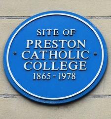 Photo of Preston Catholic College blue plaque