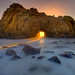 Pfeiffer Beach Big Sur .. Hole In The Wall by kevin mcneal
