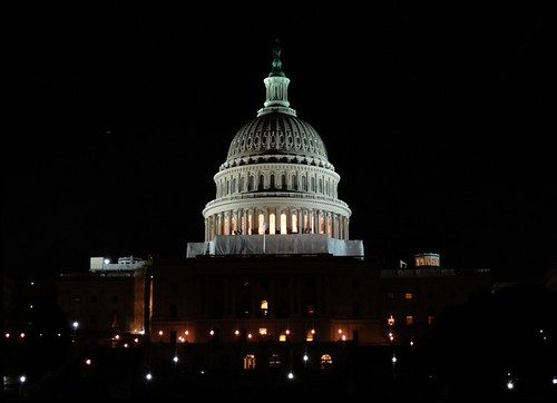 Washington DC Capitol Building at Night