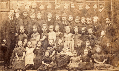 Group of children. Manchester. 1870s