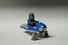 Mandalorian on Speeder Bike
