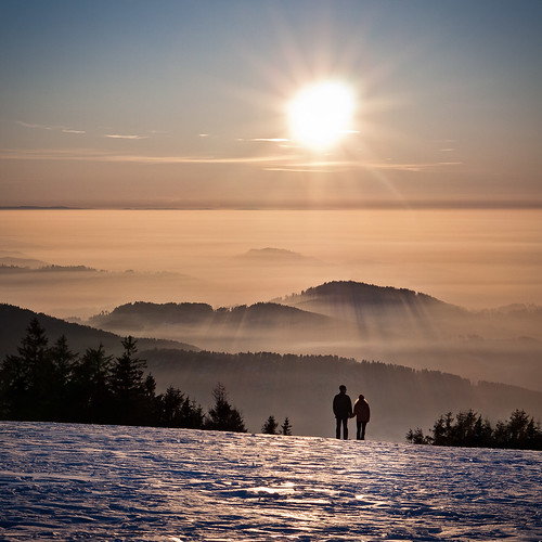 winter sunset sky sun mist love ice nature fog germany landscape couple hills together inversion schwarzwald blackforest badenwürttemberg kandel danielwonisch