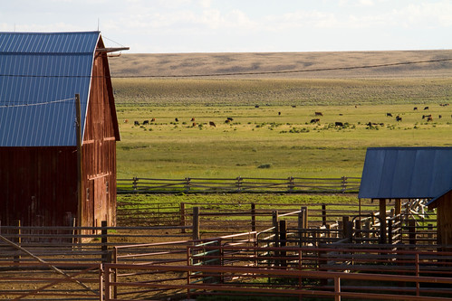 a working ranch in Wyoming (by: USDA)