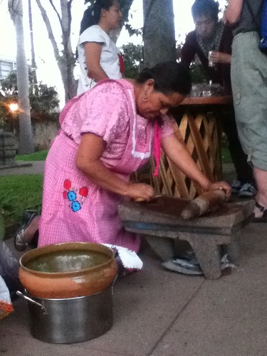 Aurora's metate, Chocolate Night in Oaxaca 02.2012