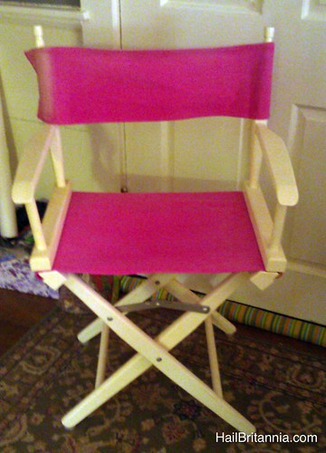 Director chair - before
