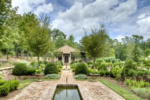 To garden house