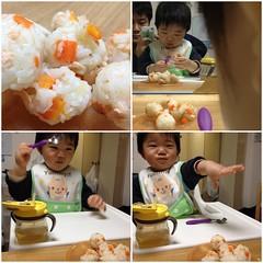おにぎり食べるとらちゃん(2012/3/6)