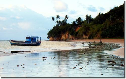 sea praia beach brasil sunrise boat mar barco alvorada amanhecer alagoas japaratinga