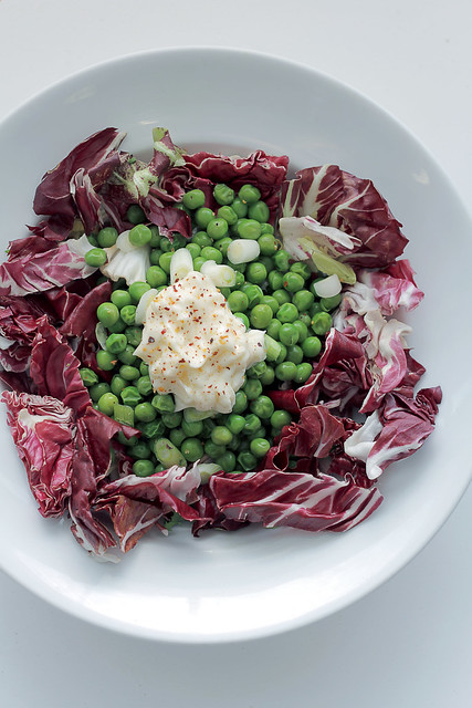 Peas, Radicchio and Mayonnaise