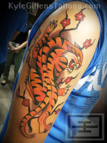 Tiger japanese tattoo tattoos kyle giffen austin tx texas for Austin texas tattoo