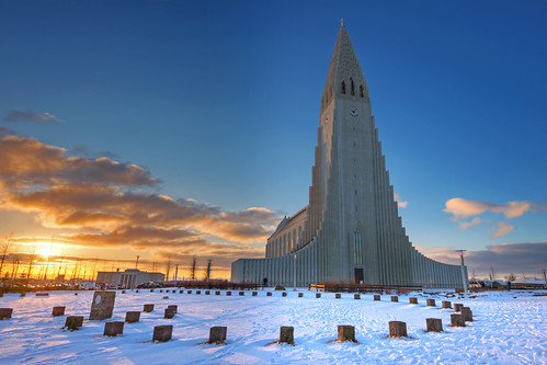 travel winter church sunrise geotagged island iceland reisen europa europe long pentax outdoor hallgrimskirkja kirche reykjavik sonnenaufgang coordinates hdr position lat hallgrímskirkja 2012 k5 13mm traumlichtfabrik sigma816