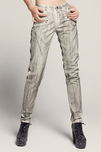 Frock Style Medium Waistline Jeans with Straight Cut Legs-oasap.com