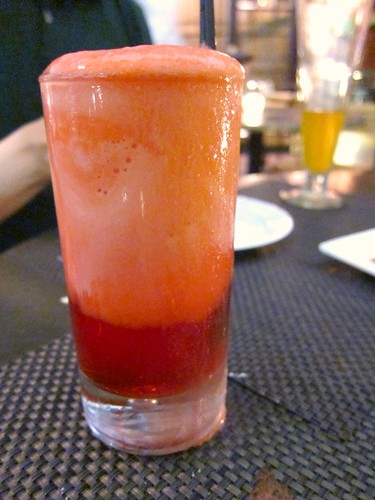 Peychaud Campari float