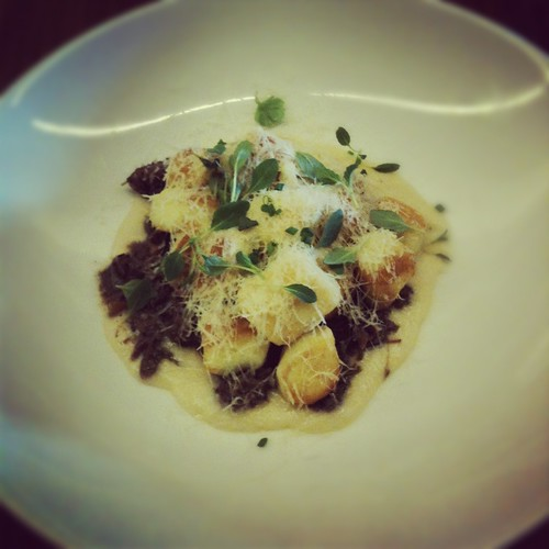 Gnocchi Parisienne, braised beef cheeks, onion soubise, mint