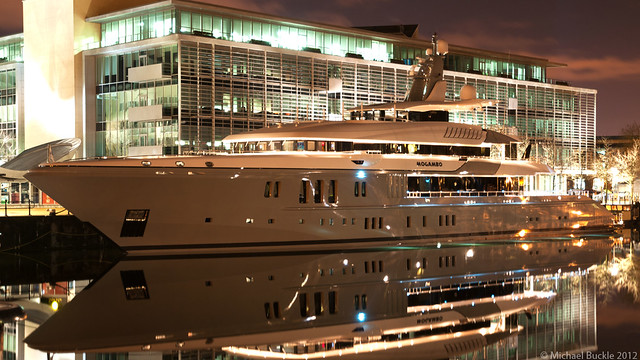 Mogambo Super-Yacht at Night
