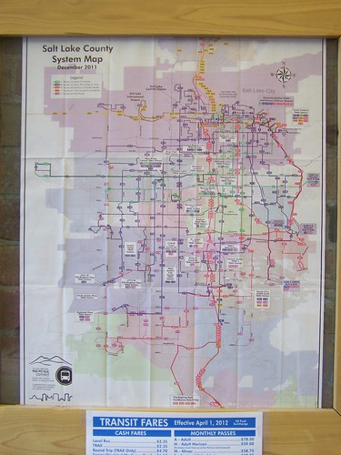 Salt Lake County transit map