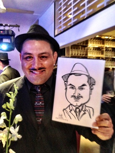 Caricature live sketching for Diageo Singapore Pte Ltd - 3b