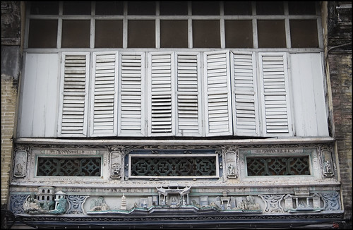 Shutters on Thalang Road, old Phuket Town
