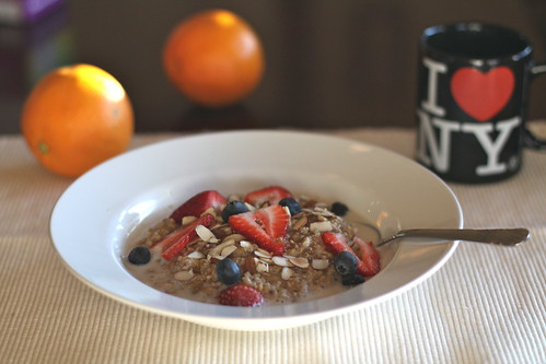 Vanilla-Orange Overnight Steel Cut Oatmeal