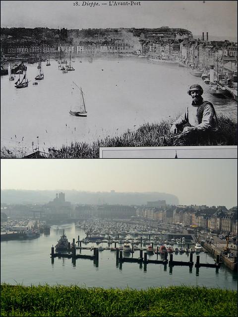 L'avant port vu de la cité des marins.