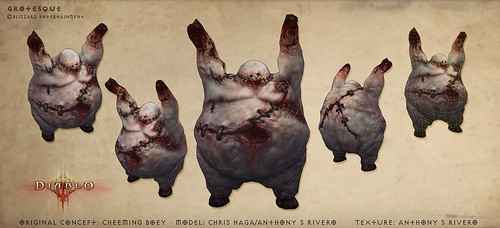 The Grotesque from Diablo III by anthonysrivero
