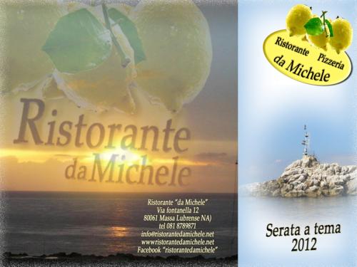 """Serate gastronomiche a tema 2012 al Ristorante """"da Michele"""" a Massalubrense"""