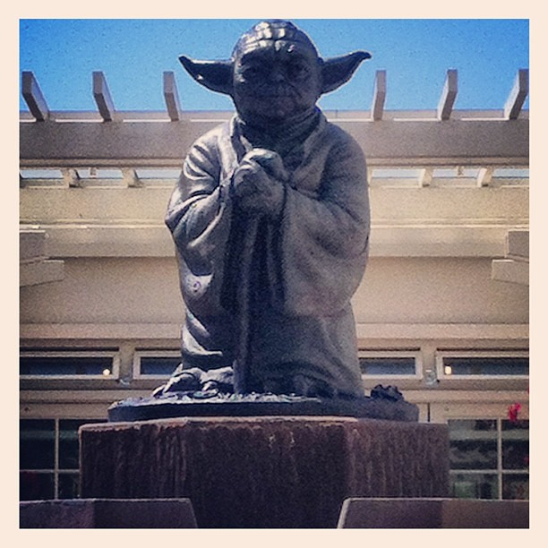 Yoda statue in the Presidio