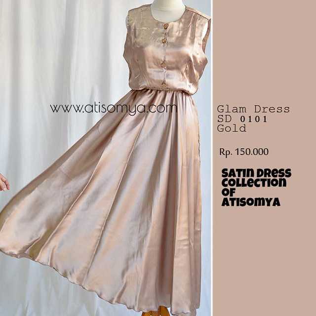 baju dress hijabers glamour kain satin