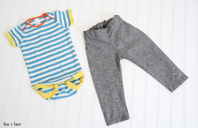 Hosh pants with mini Boden onesie