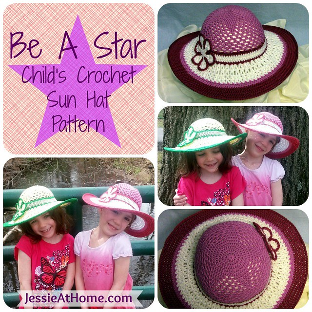 Be-A-Start-Child's-Sun-Hat-Free-Crochet-Pattern
