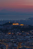Sunset over Parthenon in Athens