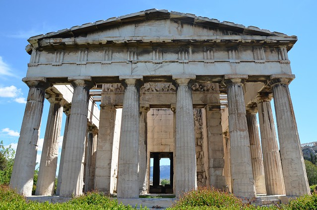 Temple of Hephaestus and Athena, built in 449 BC, Athens