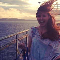we on a ferry #windy #hair...
