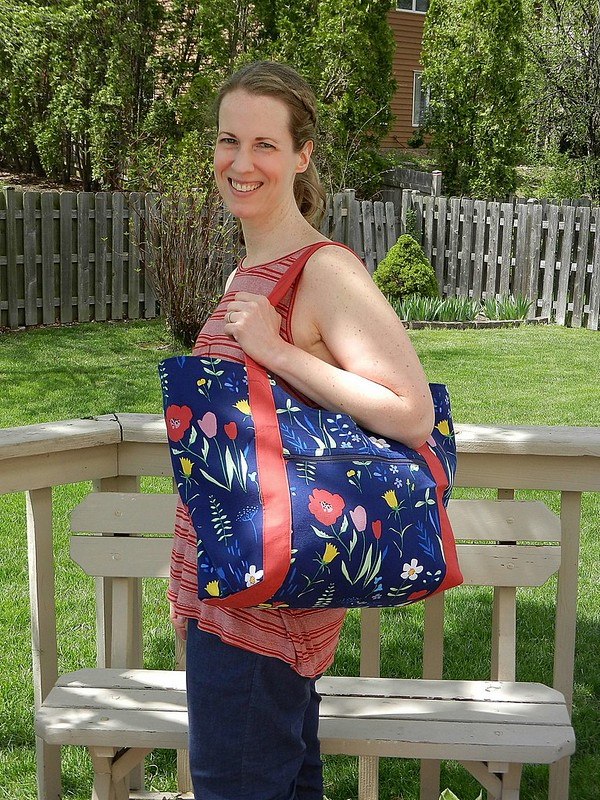 Teri with tote