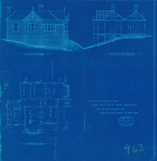 Plan of house in Brunswick Street, 1906