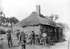 The first Bush Inn, Willunga, circa 1890.
